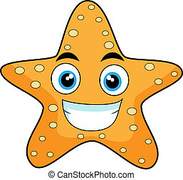 Vector illustration of a cute looking starfish. No gradient.