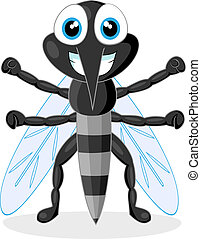 cute mosquito - vector illustration of a cute mosquito. No ...