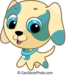 Vector illustration of a cute puppy