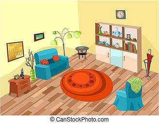 room - vector illustration of a cute room
