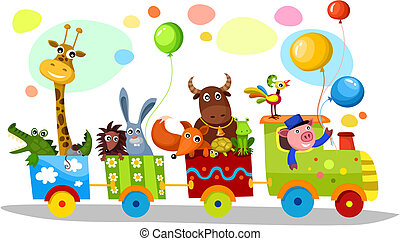 vector illustration of a cute train
