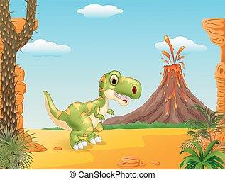 A cute tyrannosaurus character