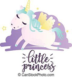 """Greeting card with """"little princess"""" inscription"""