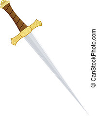 Vector illustration of a dagger