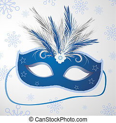 carnival mask - vector illustration of a decorative carnival...