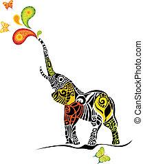 elephant - vector illustration of a design elephant