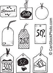 different discount labels set