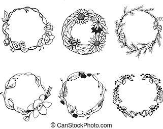 different wreath set