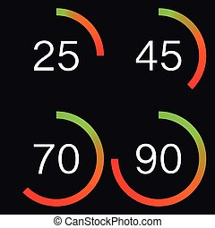 Vector illustration of a digital speedometer. Stock vector