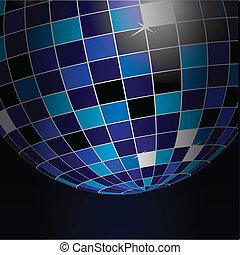 vector illustration of a disco ball