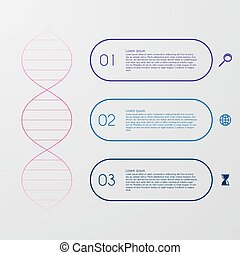 Vector illustration of a DNA