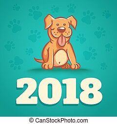 Dog is 2018 new years symbol.