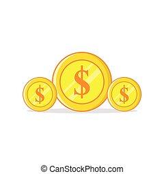 vector illustration of a dollar coin