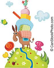 donkey - vector illustration of a donkey
