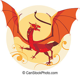 dragon - vector illustration of a dragon