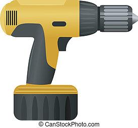 Vector illustration of a drill
