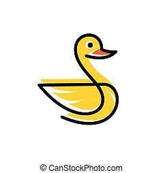 vector illustration of a duck