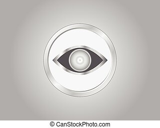Vector illustration of a eye icon