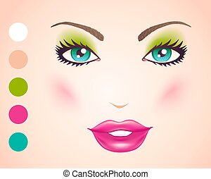 Vector illustration of a face