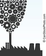 factory - vector illustration of a factory