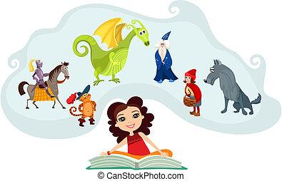 vector illustration of a fairy tale