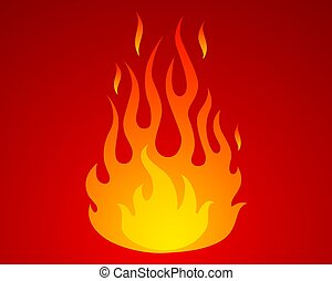 Vector icon of fire.
