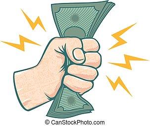 Hand and money.