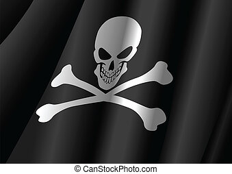 Jolly Roger - Vector illustration of a flag of Jolly Roger...