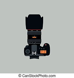 Vector illustration of a flat design Camera