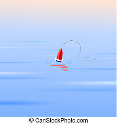 Vector illustration of a float on the water