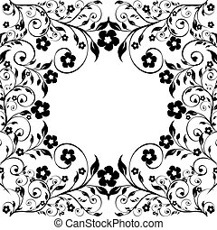 vector illustration of a floral ornament on white background