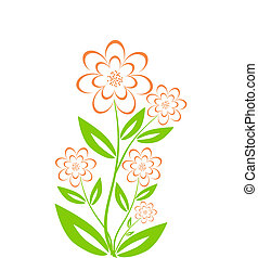 vector illustration of a flower bouquet isolated on white background