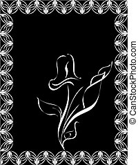 flower silhouette on black
