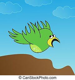 vector illustration of a flying bird.