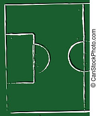illustration of a football pitch