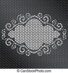 vector illustration of a frame with ornament