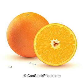 Fresh juicy oranges