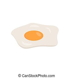 Vector illustration of a fried egg on a white background