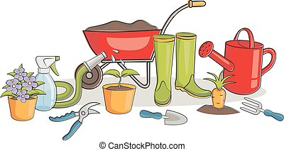 Vector illustration of a gardening