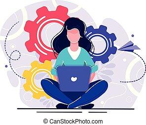 girl online assistant