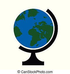Vector illustration of a globe