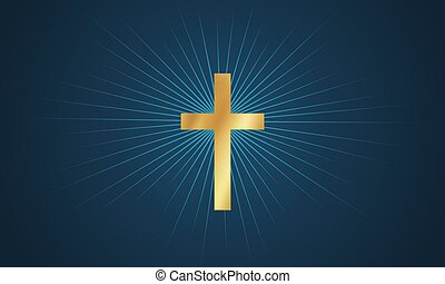 Cross in glow