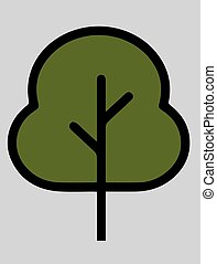 vector illustration of a green sign with a symbol