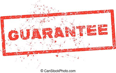 Vector illustration of a grunge rubber ink stamp guarantee