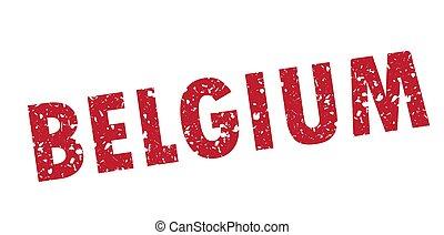 Vector illustration of a grunge stamp Belgium