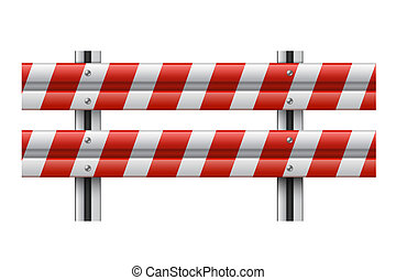 Vector illustration of a guardrail