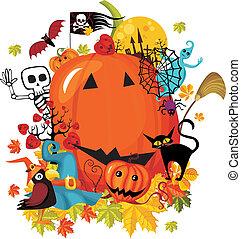 halloween card - vector illustration of a halloween card