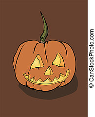 halloween pumpkin - vector illustration of a halloween...