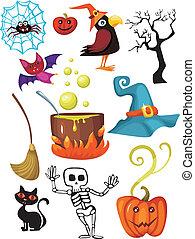 halloween set - vector illustration of a halloween set