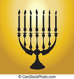 Hanukkah Menorah silhouette